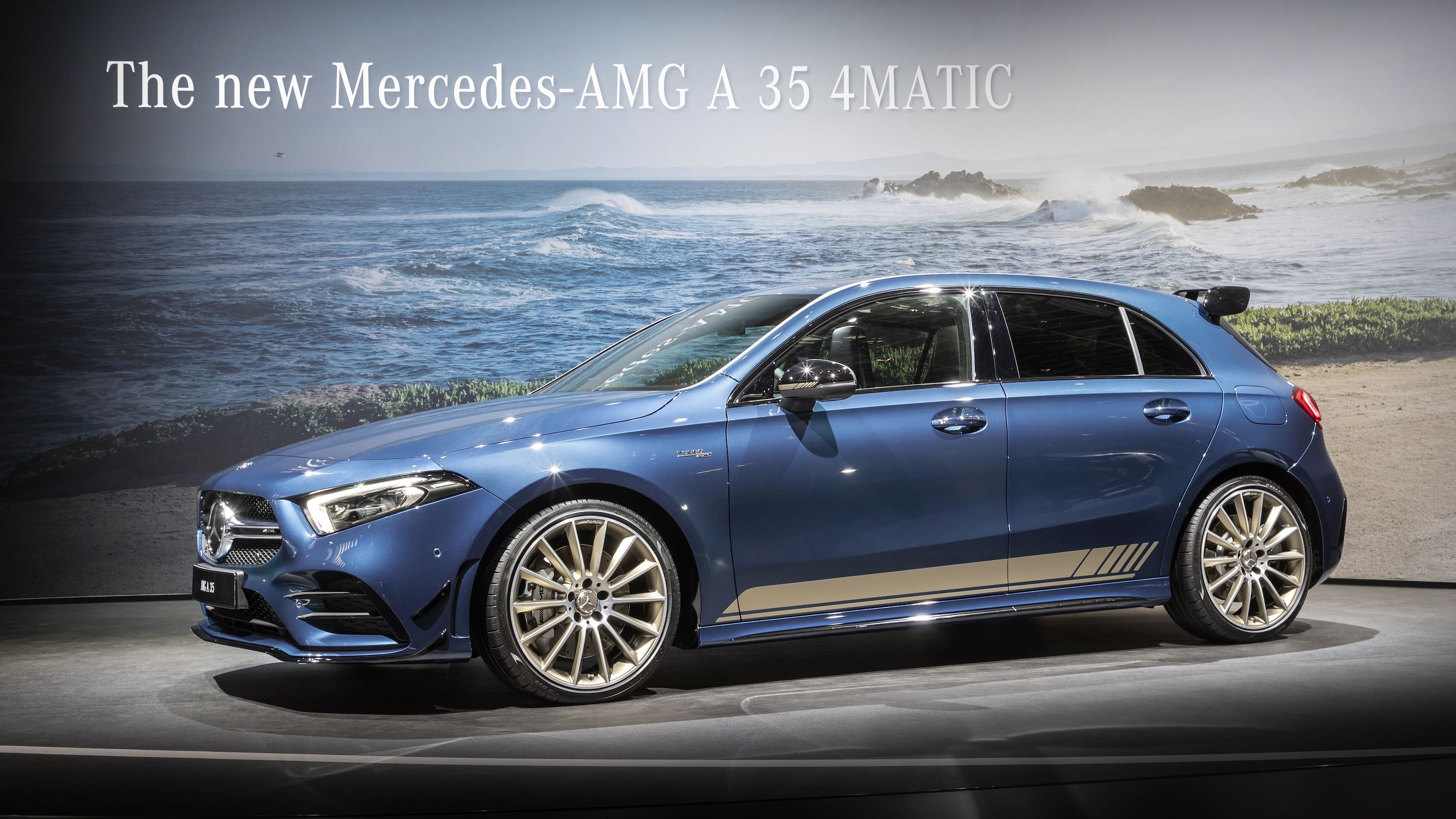 The 2019 Mercedes Amg A35 Showed Up In Paris Wearing A Stunning