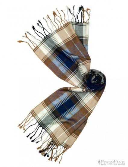 Checkered scarf for men.
