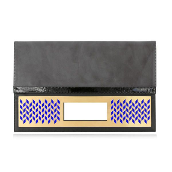 Blade Clutch - Grey/Blue | Poupee Couture
