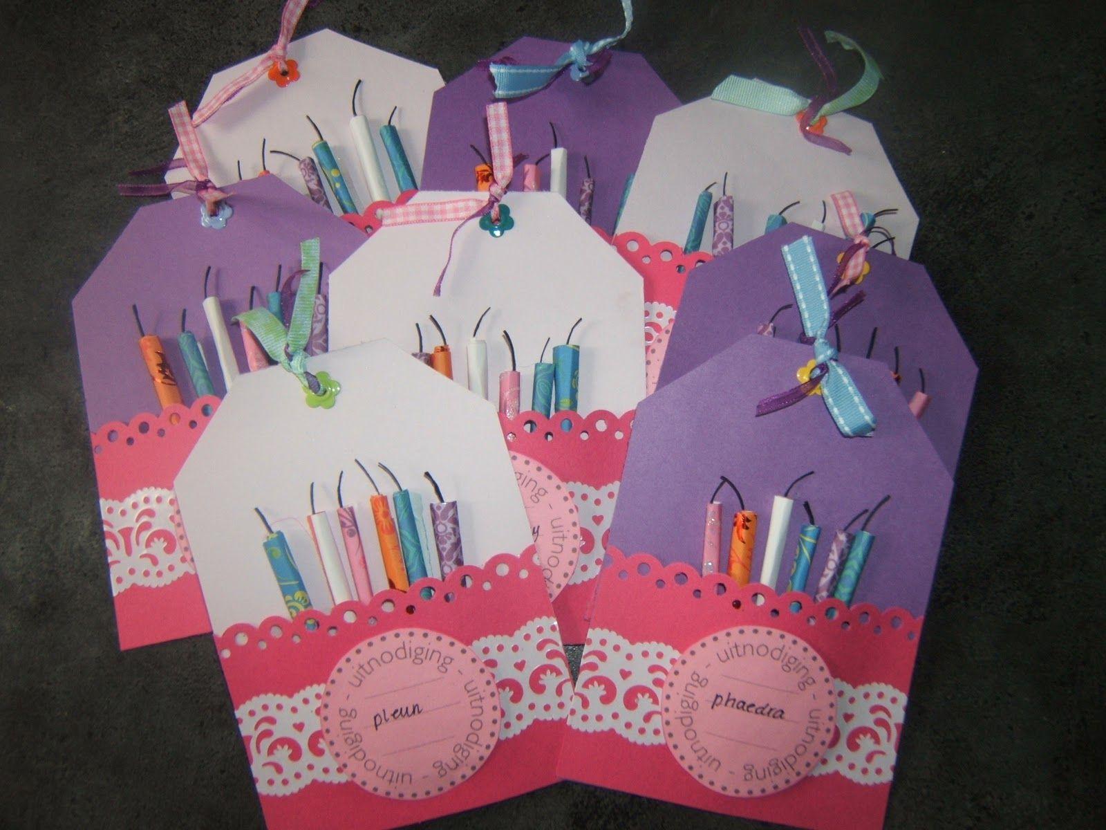 zelf uitnodiging maken kinderfeestje