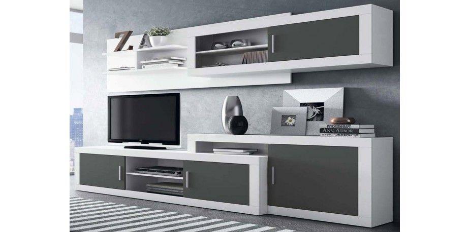 Salones modernos muebles blancos buscar con google for Muebles salon tv modernos