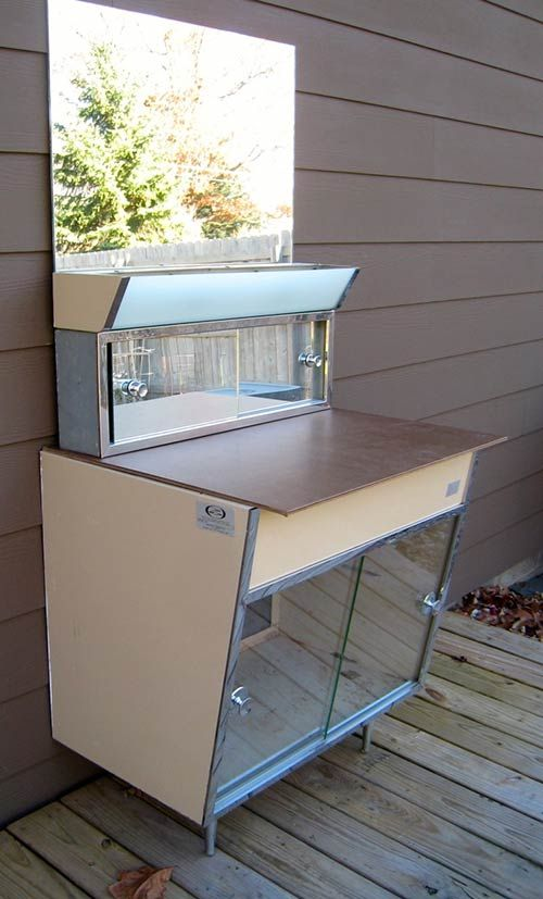 satin glide metal bathroom vanity vintage beauty spotted live in the wild for sale