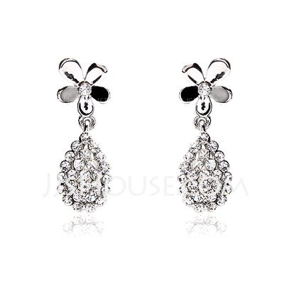 Jewelry - $4.99 - Earrings Anniversary Wedding Engagement Birthday Gift Party Daily Alloy With Rhinestones Silver Jewelry With Rhinestone (011017673) http://jjshouse.com/Earrings-Anniversary-Wedding-Engagement-Birthday-Gift-Party-Daily-Alloy-With-Rhinestones-Silver-Jewelry-With-Rhinestone-011017673-g17673