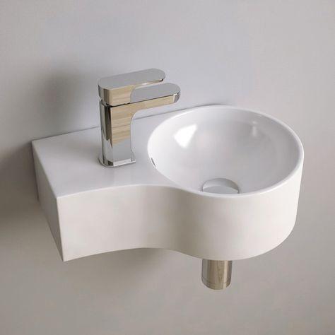 Lave Mains Gain De Place 43x27 Cm Ceramique Atsuo Lave Main Wc Lave Main Lave Main Toilette