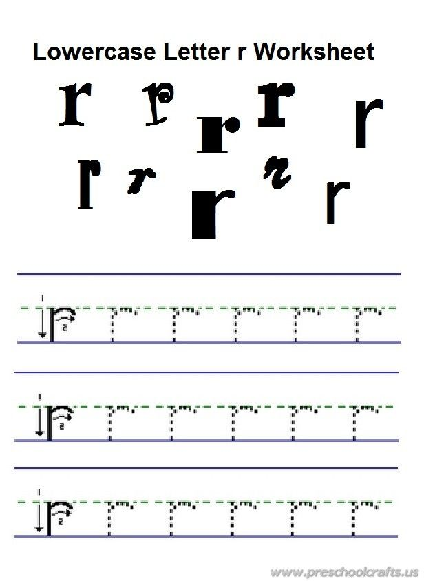 Lowercase Letter R Practice Worksheet For Preschool Free