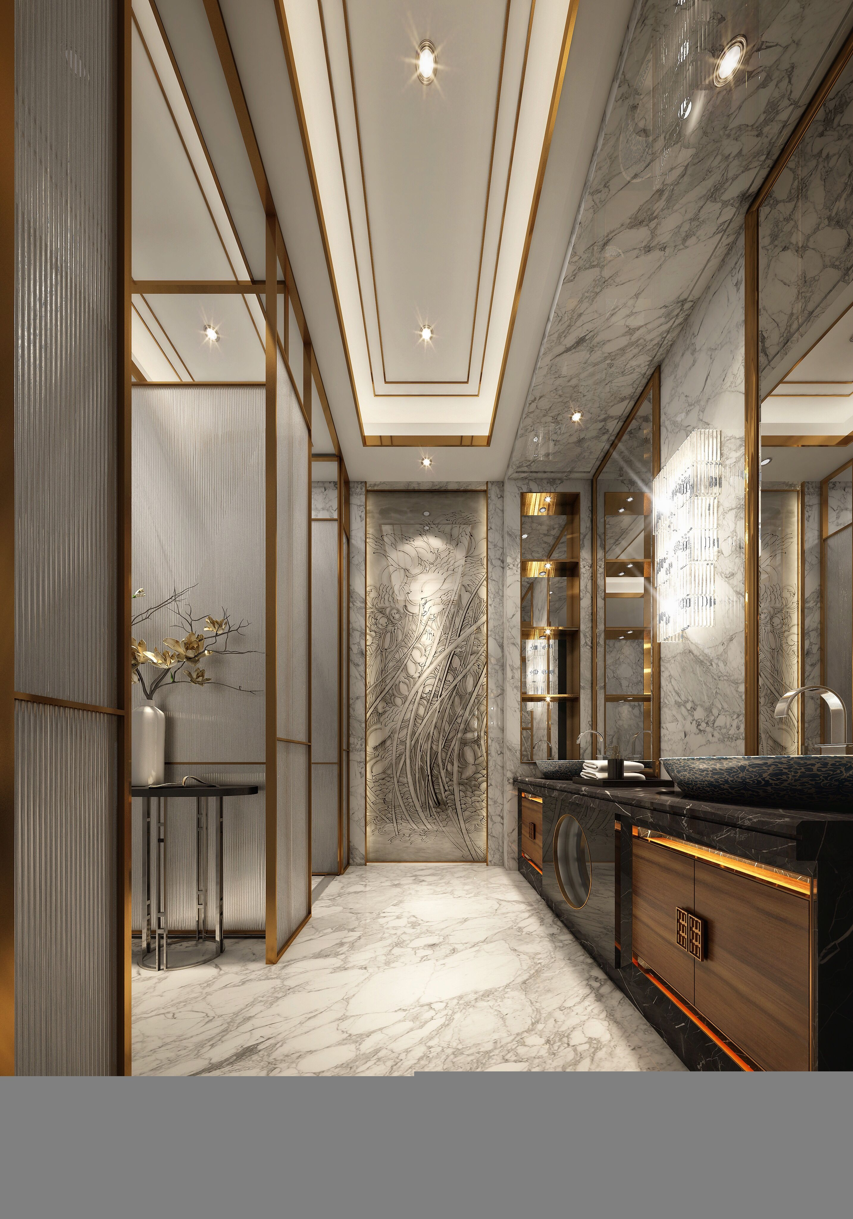 Salle De Bain Couloir ~ colour combination and marble in bathroom station pinterest