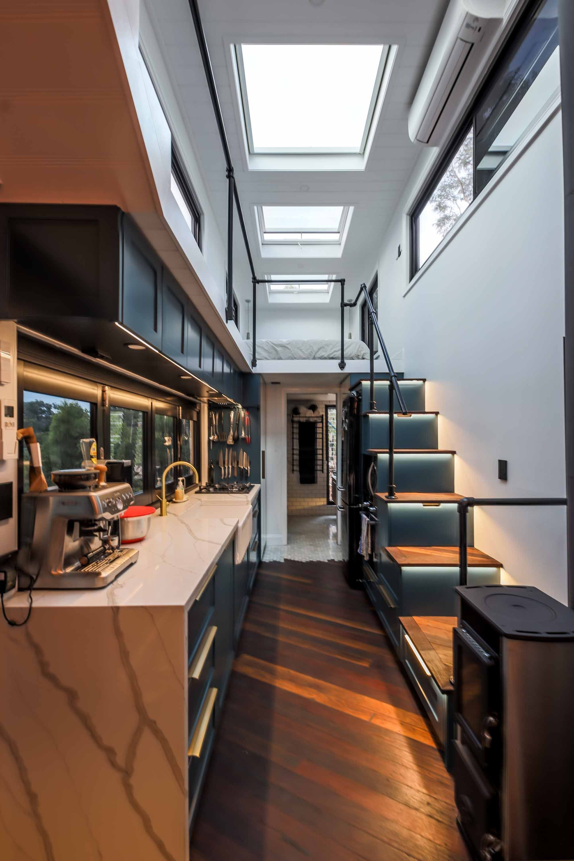 Couple Builds Sleek, Modern Tiny Home, People Are Calling It 'Most Beautiful Tiny Home Ever'