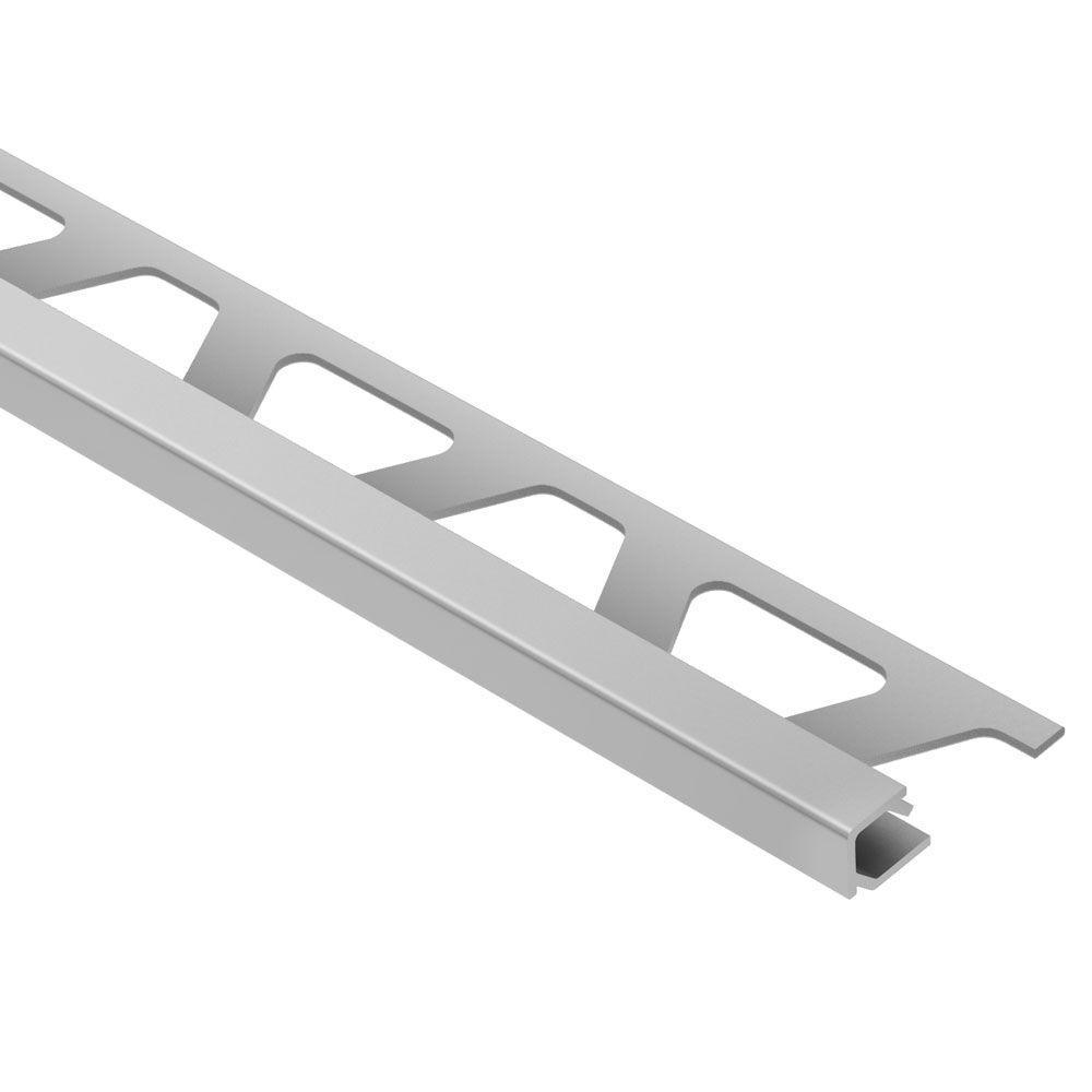 Schluter Quadec Satin Anodized Aluminum 5 16 In X 8 Ft 2 1 2 In Metal Square Edge Tile Edging Trim Q80ae The Home Depot Tile Edge Trim Tile Edge Tile Accessories