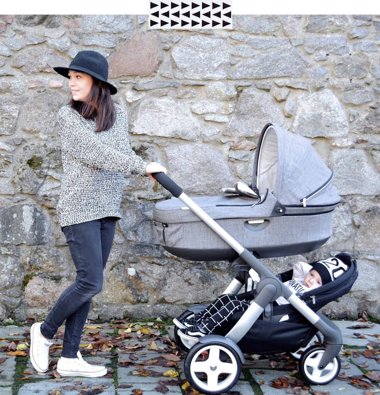 Stokke Crusi with Newborn Carry Cot + Sibling Seat