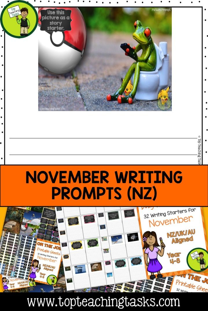 Daily Writing Prompts - PowerPoint, Journal and Worksheet - writing formats