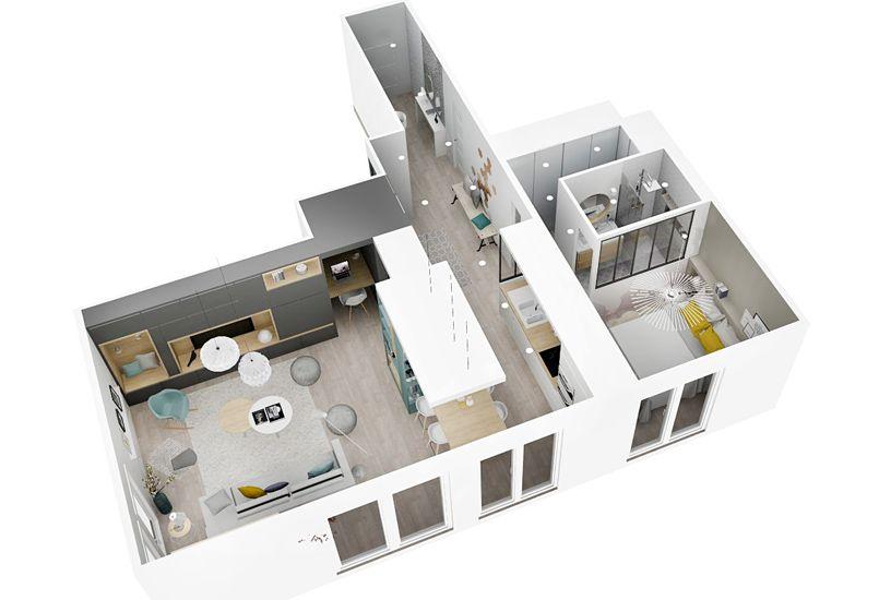 Un bain de lumière, aménagement, rénovation, appartement, lyon - Magazine Deco Maison Gratuit