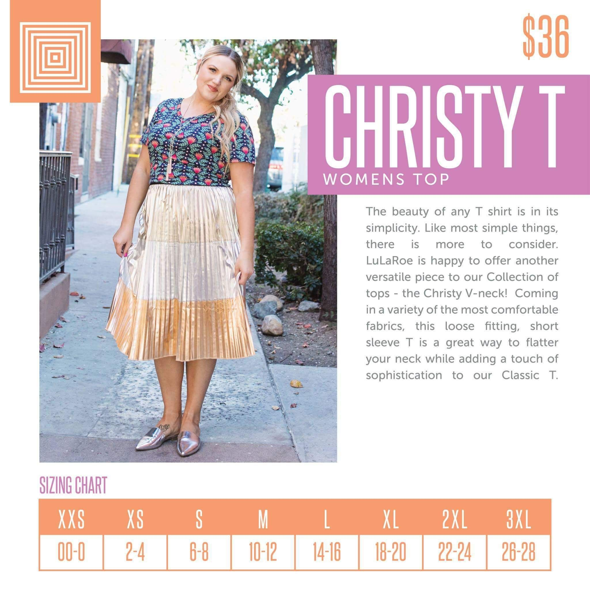 7fd4d03744ae1 Christy T size chart- click the pick to shop with me! Coming soon ...