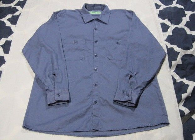 Cintas Xl Ln Long Sleeve Work Shirt 100 Cotton Work Shirts Shirts Ebay Clothes