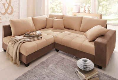 Home Affaire Polsterecke Greenwich Wahlweise Mit Bettfunktion Couch Sofa Ecksofa