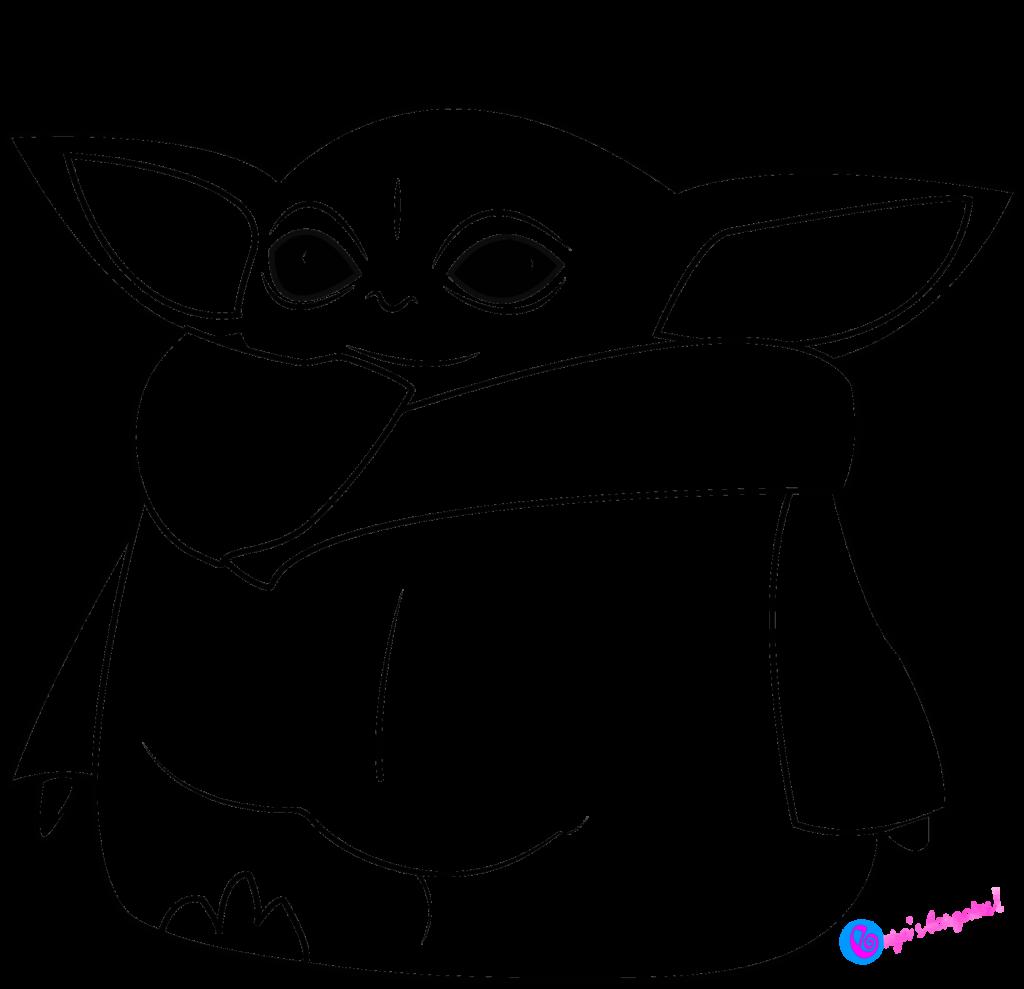 Baby Yoda SVG for Cricut Yoda drawing, Yoda png, Cricut