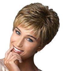 Nomeni Fashion Wig Short Haircut Curly Color Gradi