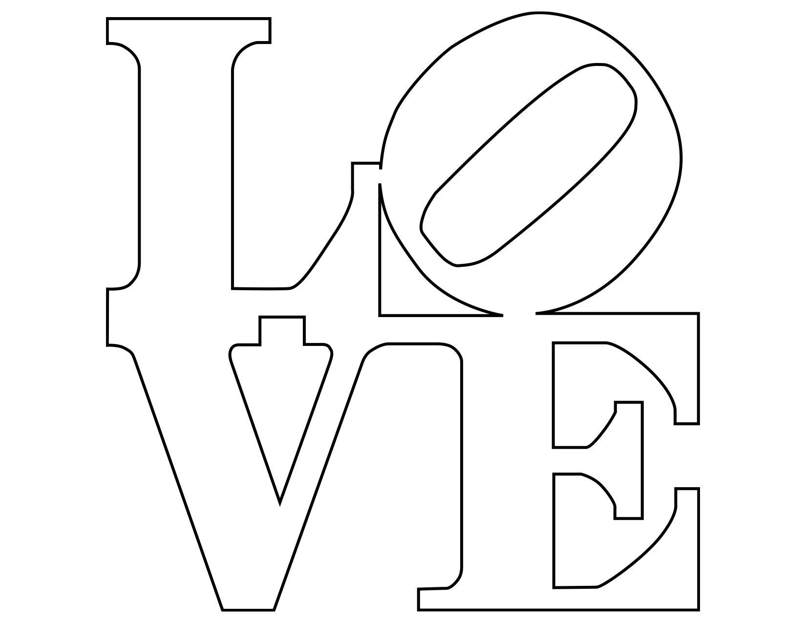 Robert Indiana Love Coloring Pages Pack Love Coloring Pages