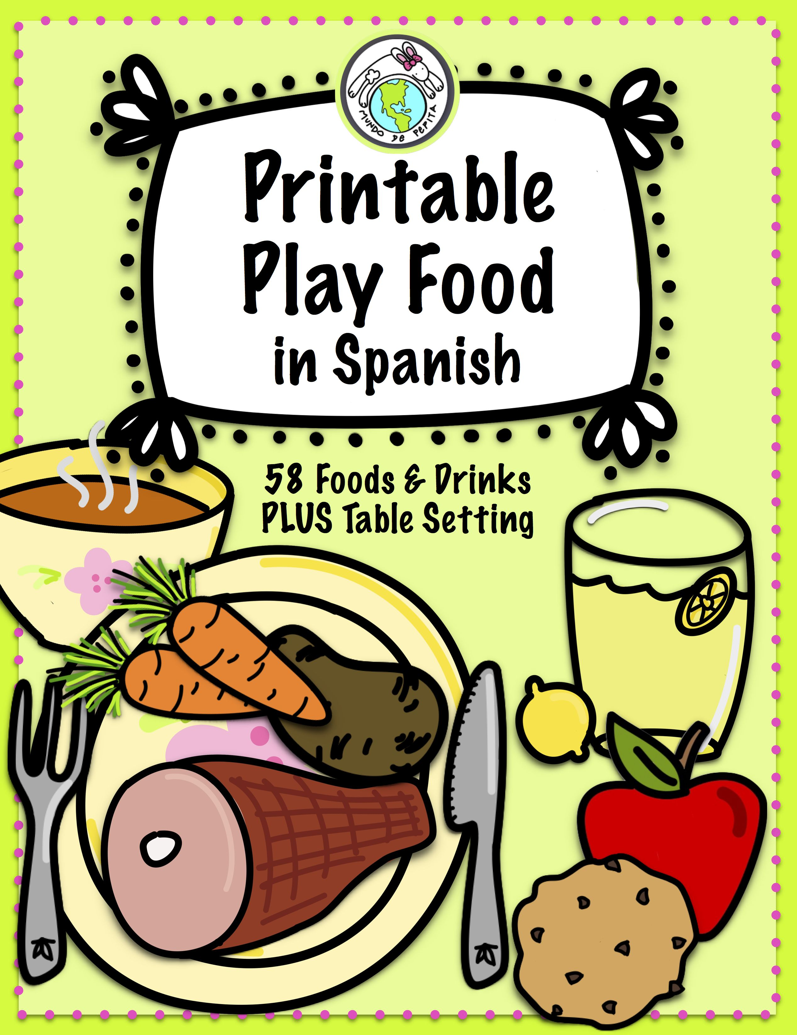 Printable Play Food In Spanish For Imaginative Play Amp Vocabulary Practice