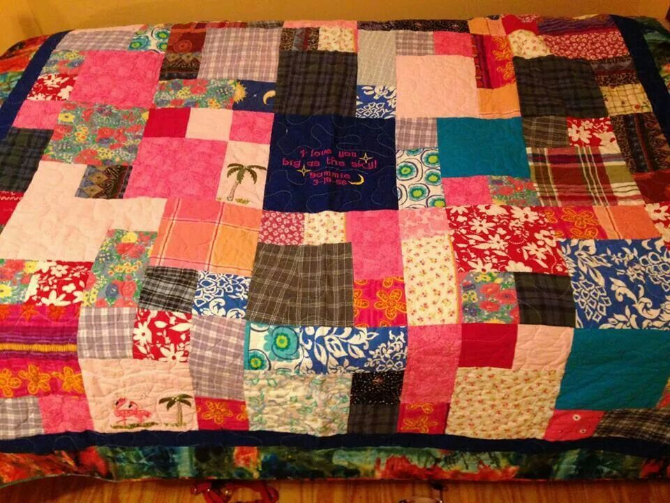 Quilt made from materials from deceased mother's clothes ... : quilt materials - Adamdwight.com