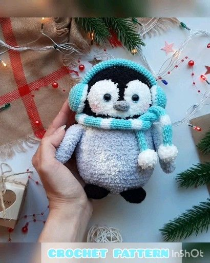 Crochet Amigurumi penguin  #pastelpattern