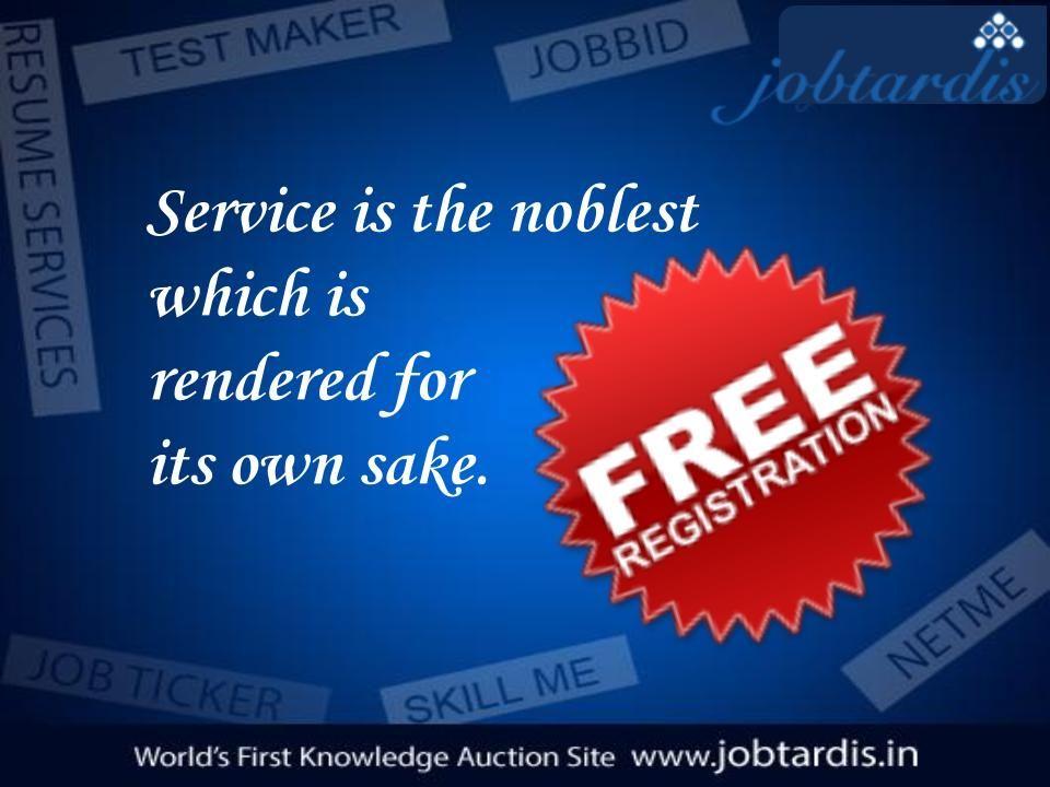 Service offered by Jobtardis Test Maker Net Me Job Bid Resume