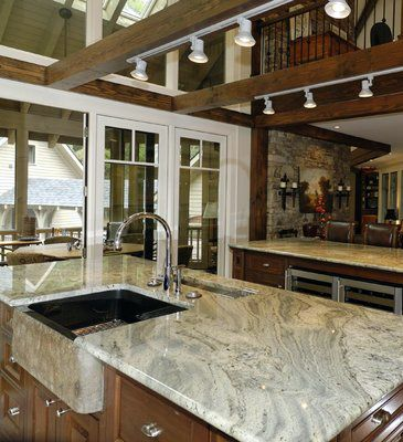 Typhoon Green Granite Kitchen Countertop Finished Installed Granix 2