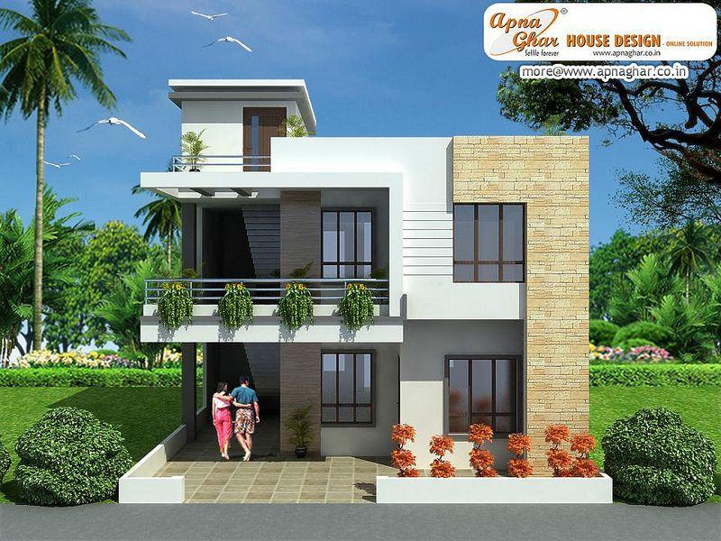 Modern duplex house design duplex house design for Exterior home design in chennai