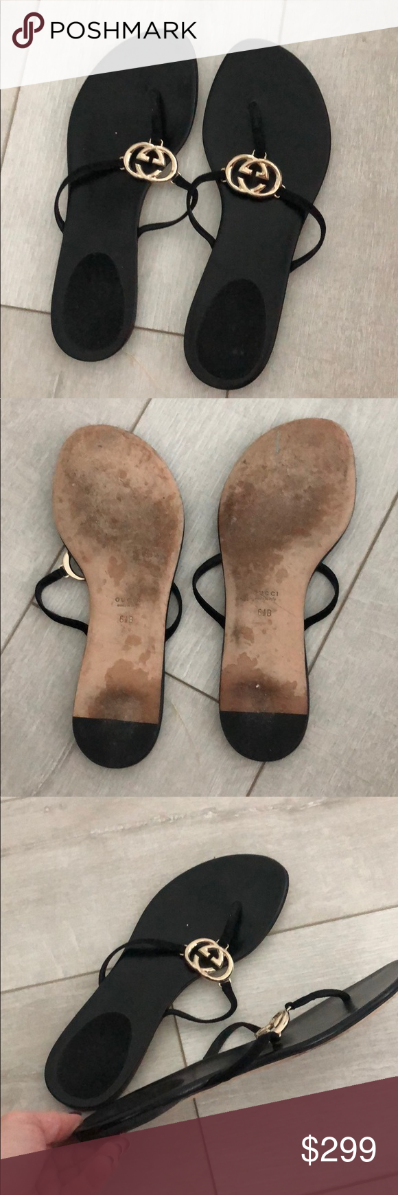992f751e3d1 Women s Gucci sandals 100% authentic women s black Gucci sandals. Purchase  at Saks 5th Avenue