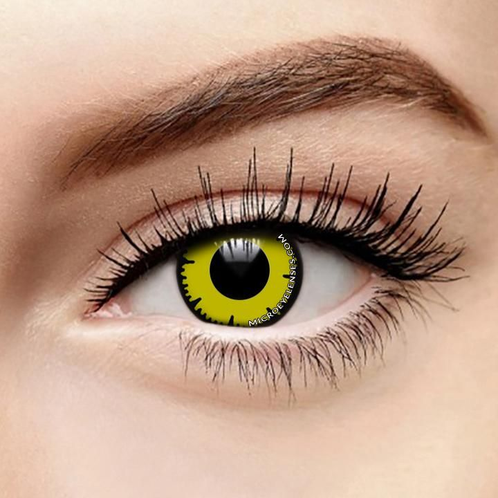 Micro® Eye Circle Lens Lace Yellow Cosplay Colored ...