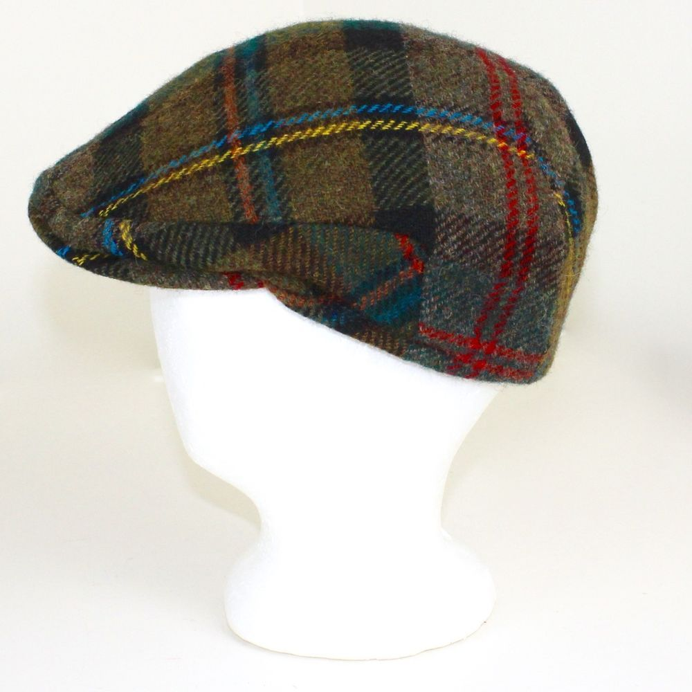 04b691ec5 John Hanly Irish Flat Cap 7 Cabbie Hat Olive Green Red Blue Yellow ...