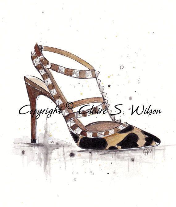 Valentino Leopard Rockstud -  Art Print 8x10