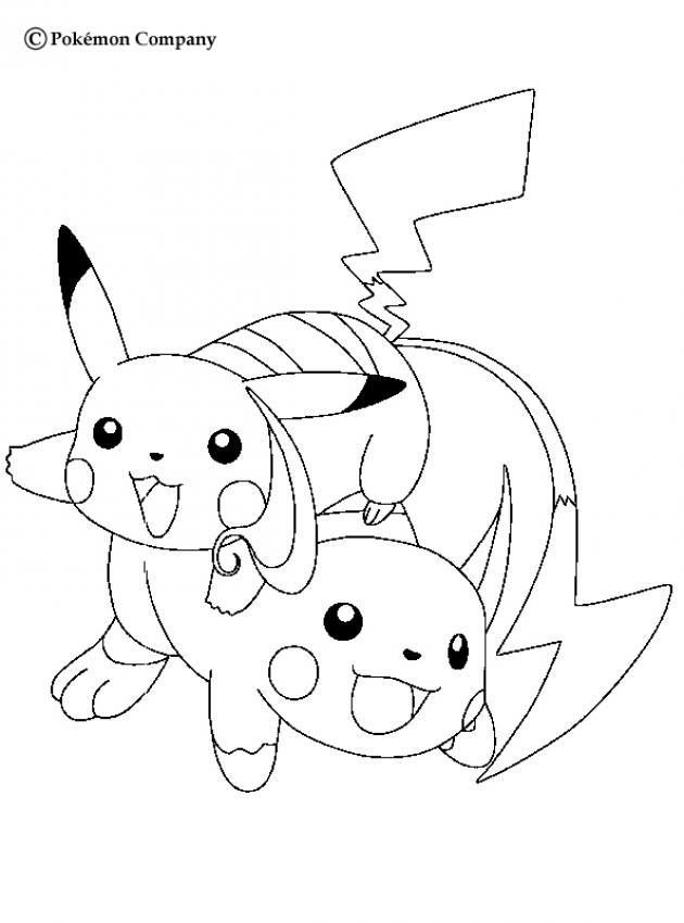 ELECTRIC POKEMON coloring pages - Happy Pikachu | coloring pages ...