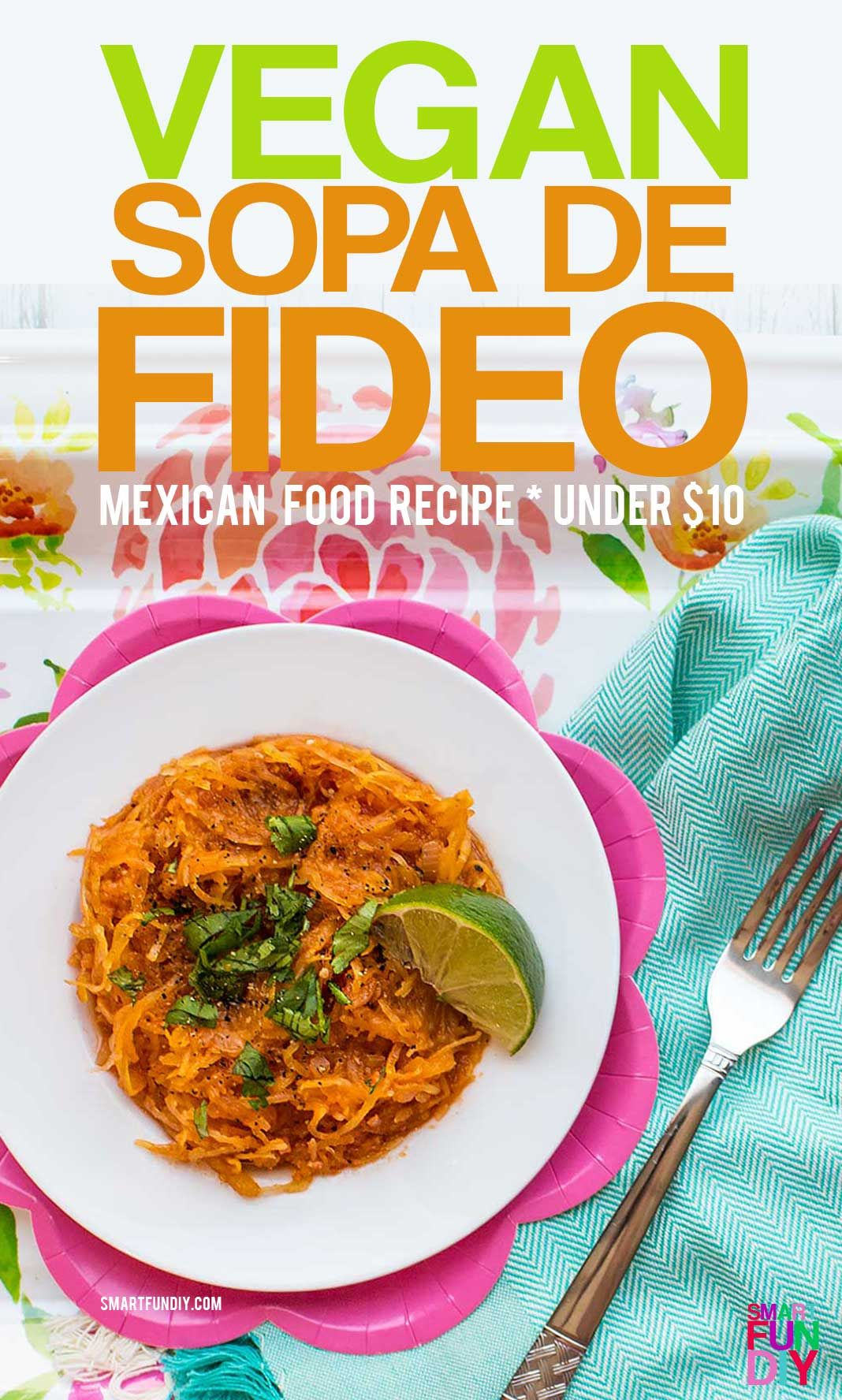 Vegan sopa de fideo recipe with spaghetti squash a mothers day ad vegan sopa de fideo recipe healthier version of the traditional mexican food forumfinder Choice Image