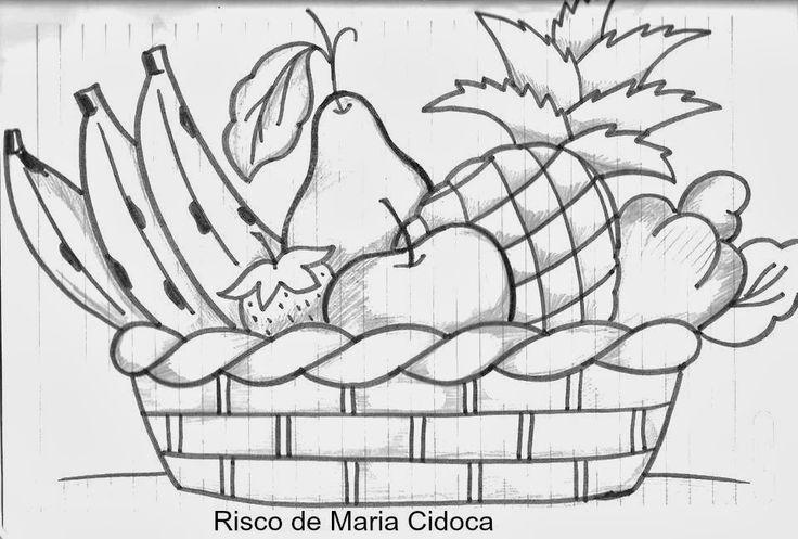 Resultado De Imagen Para Dibujos De Flores Y Frutas Para Pintar En Tela Pintar En Tela Canasta De Frutas Dibujo Dibujos
