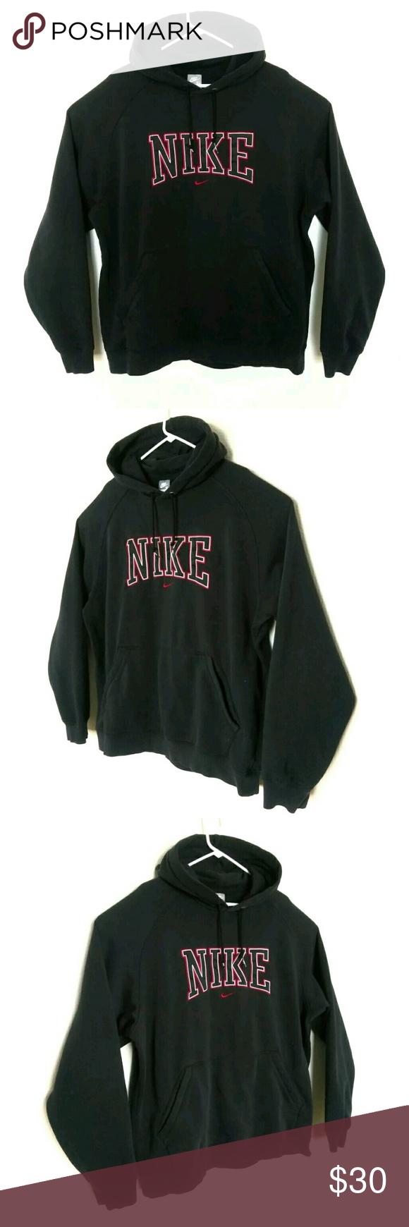 Vintage Nike Hoodie Sweatshirt Mens Xl Black You Are Buying Nike Black Hoodie Pullover Sweatshirt Mens Size Xl Sweatshirts Hoodie Mens Sweatshirts Sweatshirts