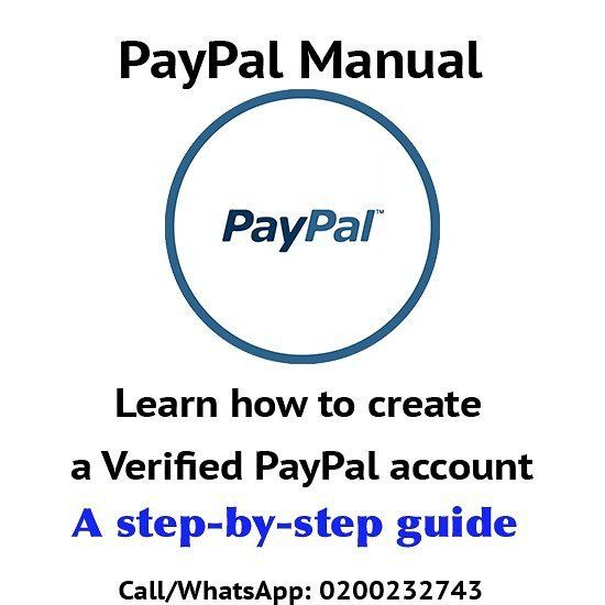 PayPal manual for sale  Call/WhatsApp 0200232743 for yours