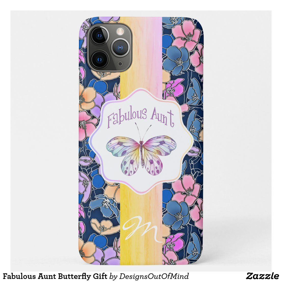 Fabulous aunt butterfly gift casemate iphone case