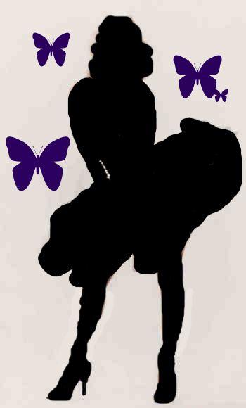 marilyn monroe silhouette pochoirs pinterest silhouette pochoir et dessin. Black Bedroom Furniture Sets. Home Design Ideas