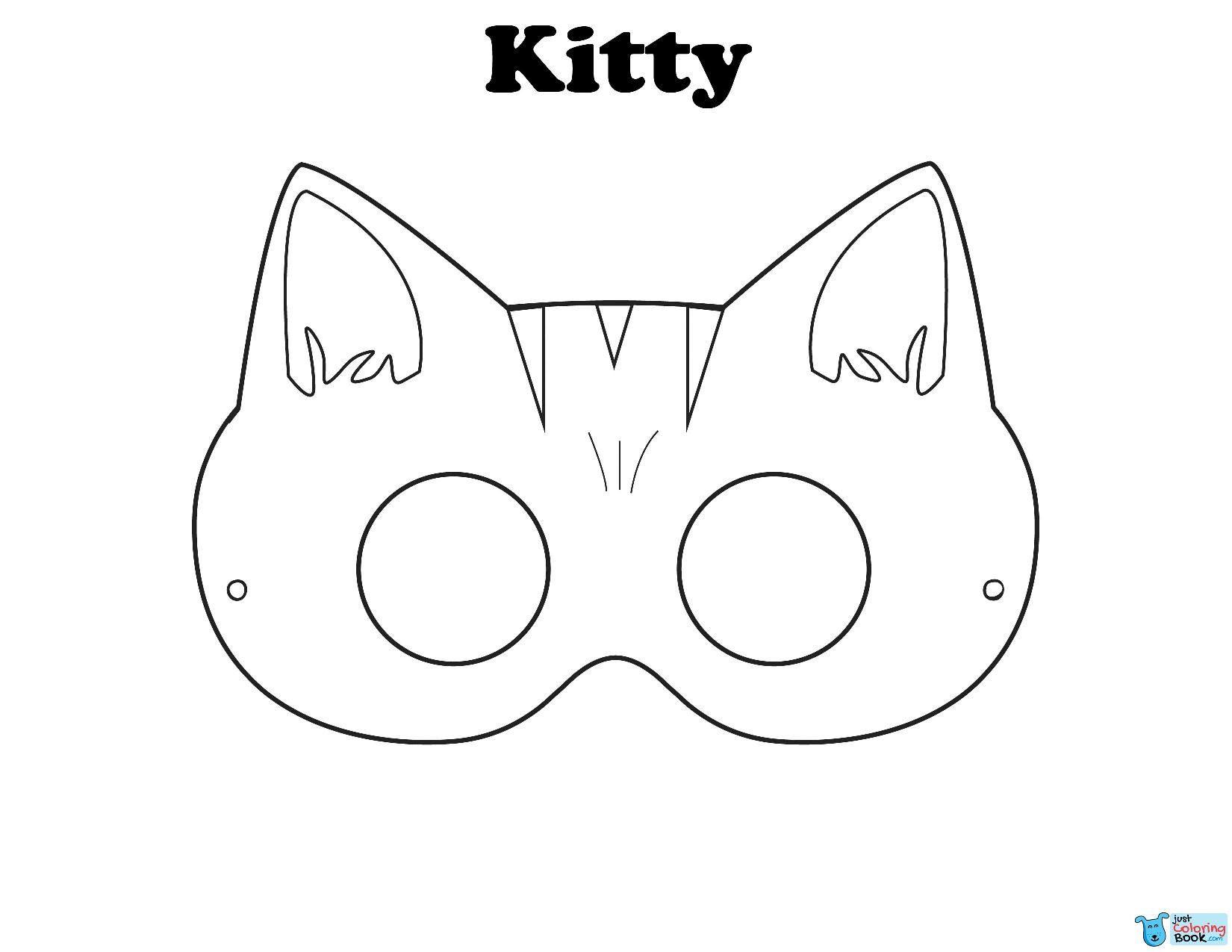 Kitty Mask Free Printable Halloween Masks On Outstanding