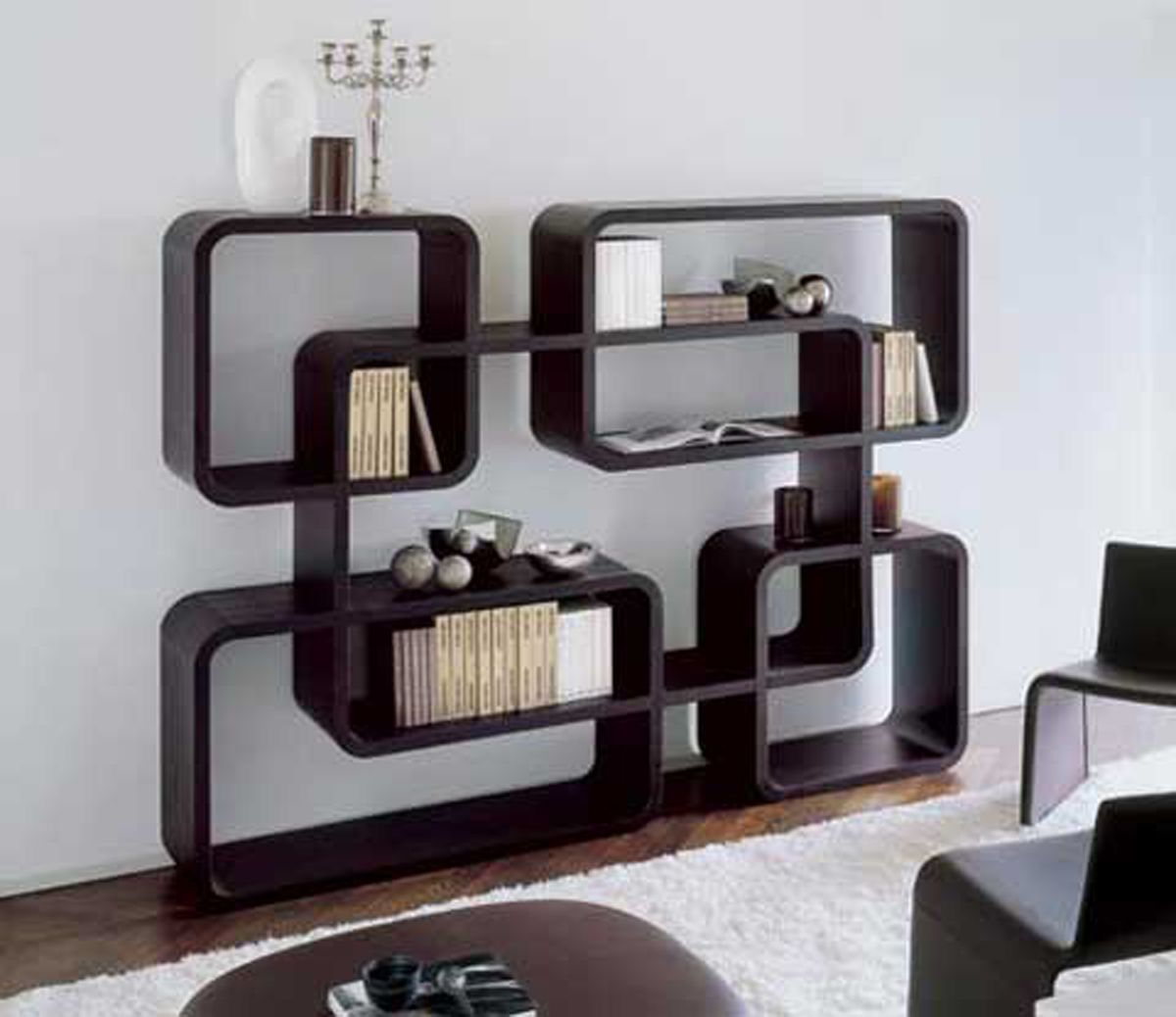 Contemporary Book Shelves Modern Bookcase Design Ideas One Of 7 Total Pictures Creative
