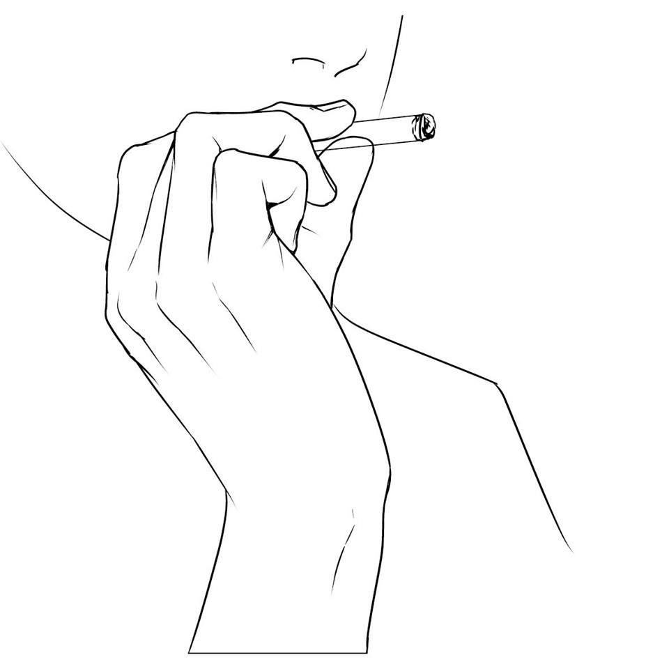 курящие картинки карандашом
