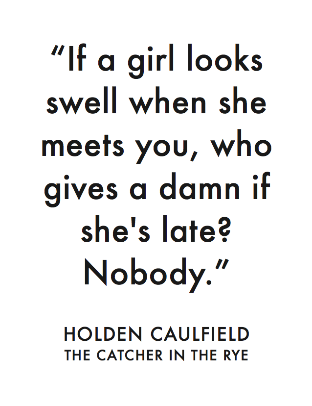 the difficult life of holden caulfield in the catcher in the rye by jdsalinger What 'the catcher in the rye' novelist was working center on catcher protagonist holden caulfield and behind-the-scenes snaps of life with.