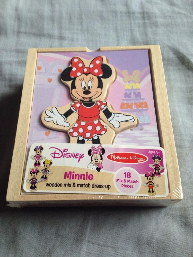 disney's minnie mouse wooden mix-n-match dress-up playset #Disney