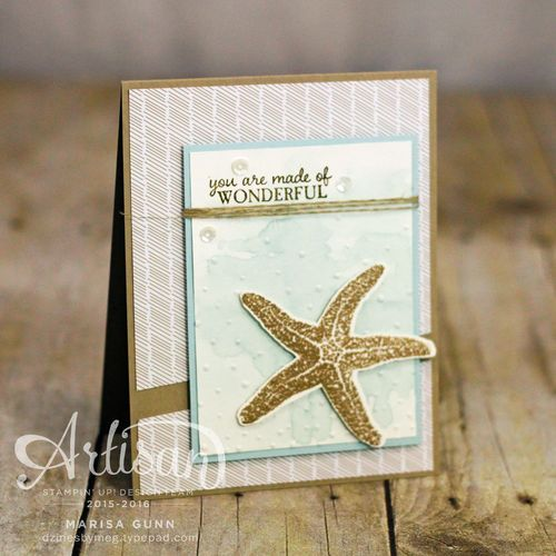 Masculine card using Picture Perfect stamp set and Love Blossoms patterned paper from Stampin' Up!, by Marisa Gunn