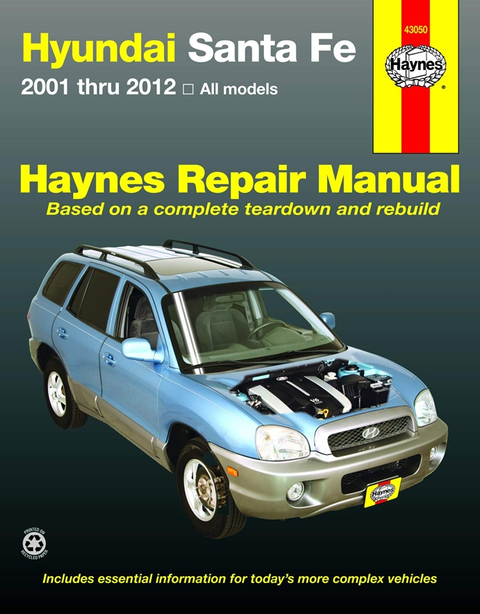 Hyundai Santa Fe 2001 Thru 2012 All Models By Editors Of Haynes Manuals Haynes Manuals N America Inc In 2020 Repair Manuals Repair Hyundai Santa Fe