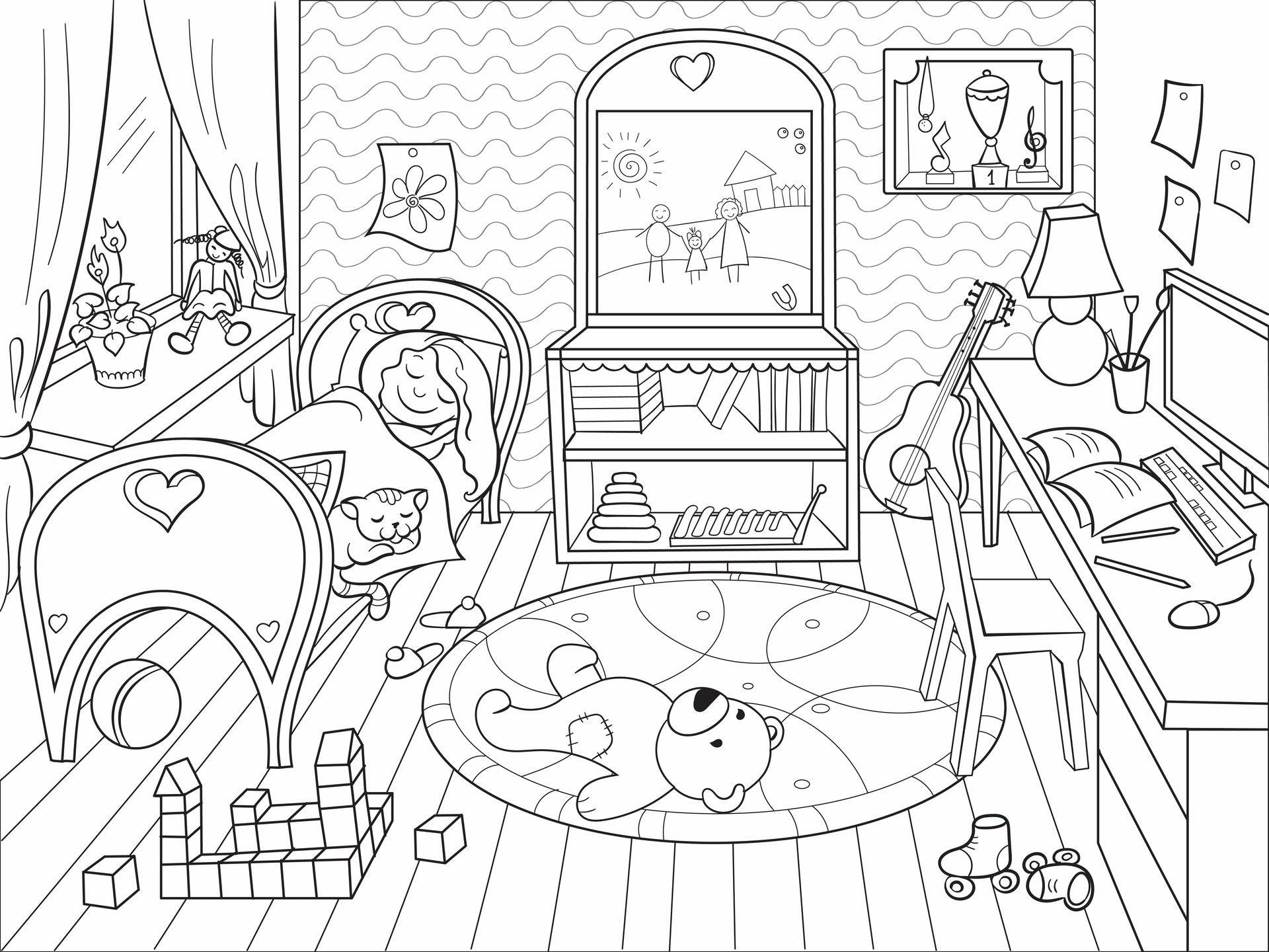 Artstation Coloring Book Julia Novosilska Coloring Books Family Coloring Pages Barbie Coloring Pages