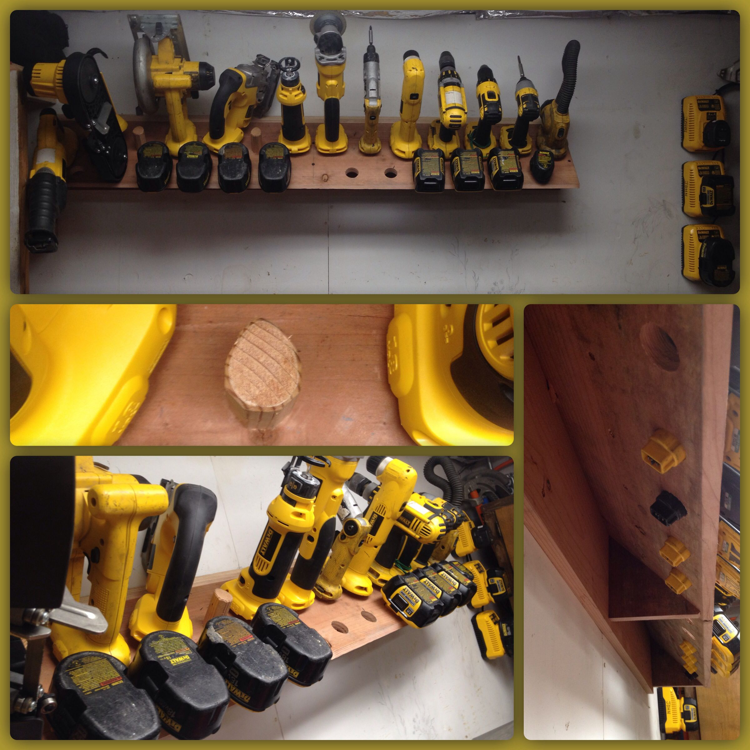 My Idea For A Cordless Tool Open Storage Shelf I Made A