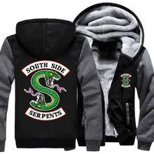 Riverdale mens grosso hoodies casaco homens negros jaqueta de Serpentes Do  Lado Sul Jughead Jones Archie 3a0a411fcf129
