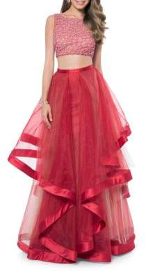 5e8eec3807f5 Glamour by Terani Couture Two- Piece Embellished Prom Dress Set - not too  early to start thinking about prom! #prom #promdress #promnight #ad