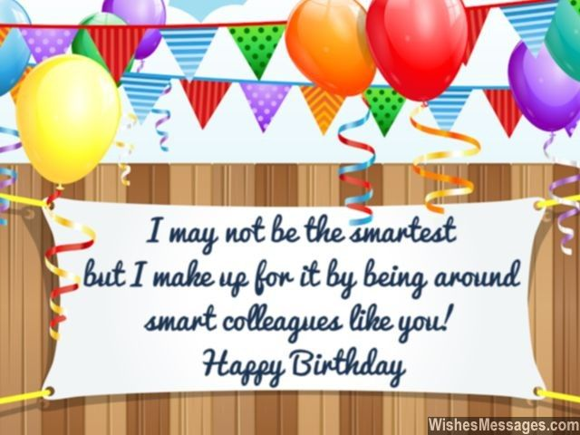 Funny birthday message for smart colleagues greeting card – Birthday Greetings for Coworkers